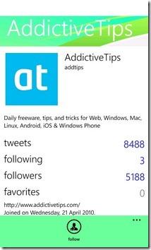 TweetReader WP7 Profile