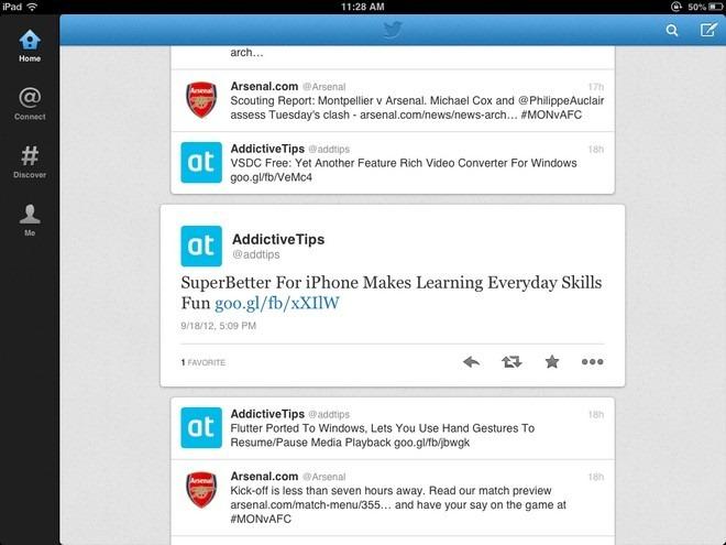 Twitter iOS Interface