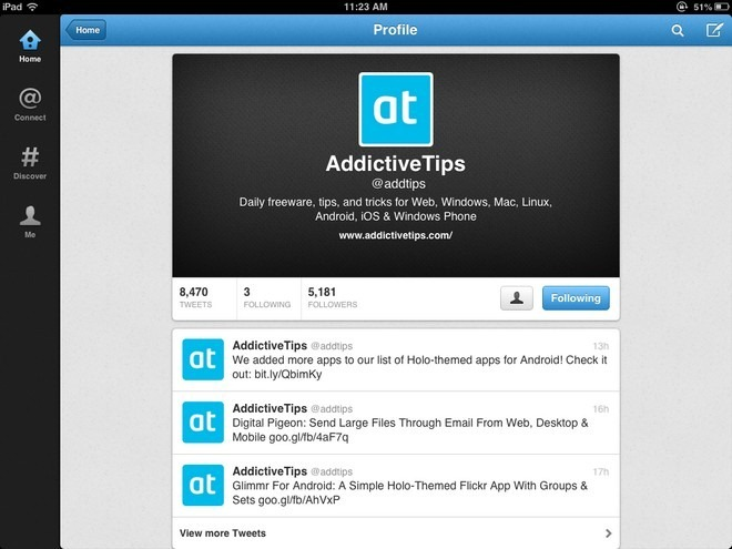 Twitter iOS Update Profile