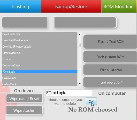 UniFlash for Android Delete System Apps