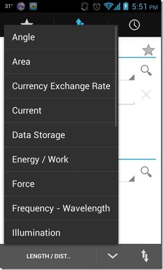 Unit Converter HD - Options