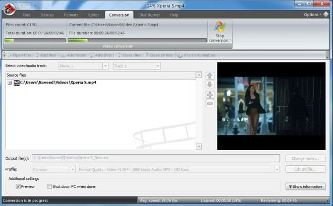 VSDC Free Video Converter_Conversion
