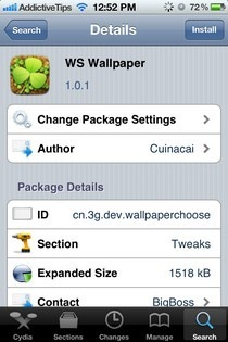 WS Wallpaper Cydia