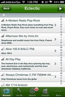 What's On Air iOS Category