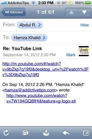 YouTube Links iOS