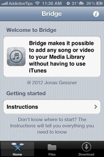 Bridge iOS Instructions