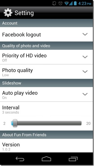FFF-Android-Settings