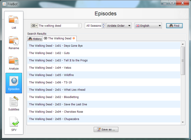 FileBot episodes