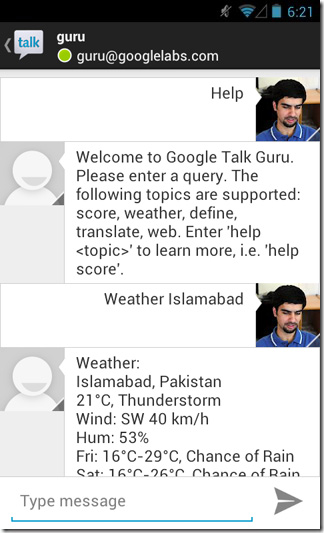 Google-Now-GTalk-Android-Weather
