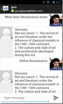 Google-Now-GTalk-Solution-Dictionary