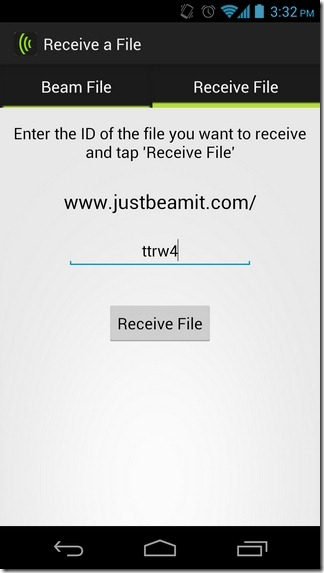 JustBeamIt-Android-Receive