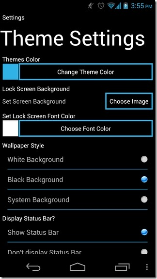 LauncherWP8-Android-Settings