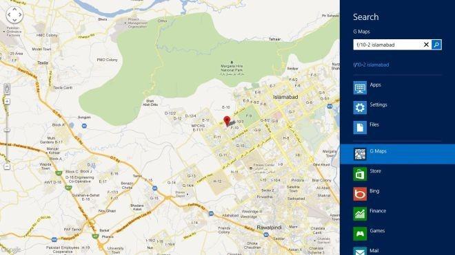 Maps Search