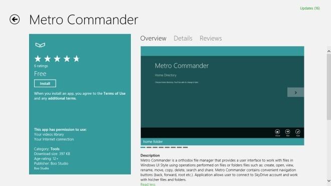 Metro Commander_Windows 8