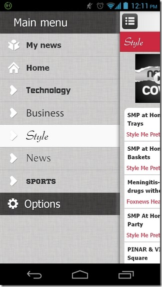 Newscover-Android-Categories