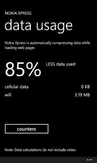 Nokia Xpress WP7 Data Usage