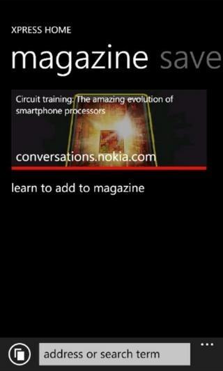 Nokia Xpress WP7 Magzine
