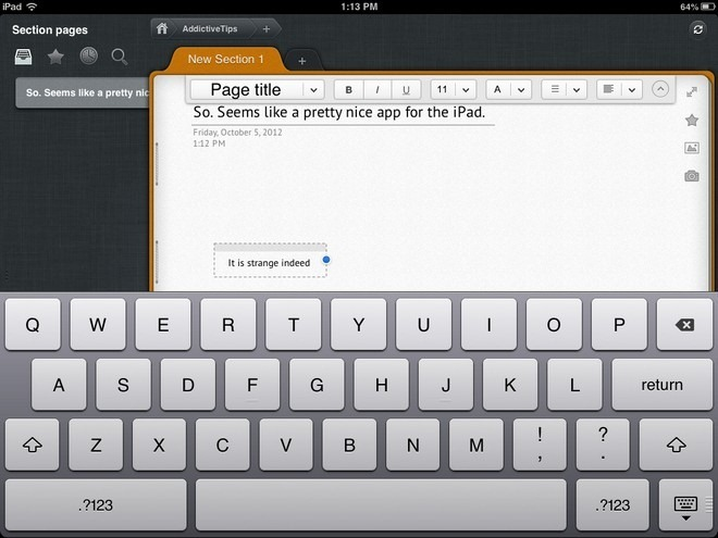 Outline  iPad Text Editor