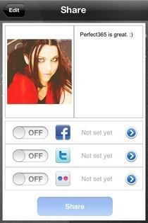 Perfect 365 iOS Share