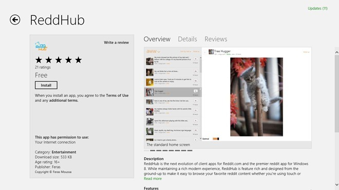 Reddhub_Windows Store