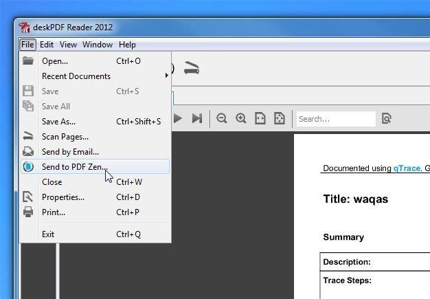 Send to PDF Zen