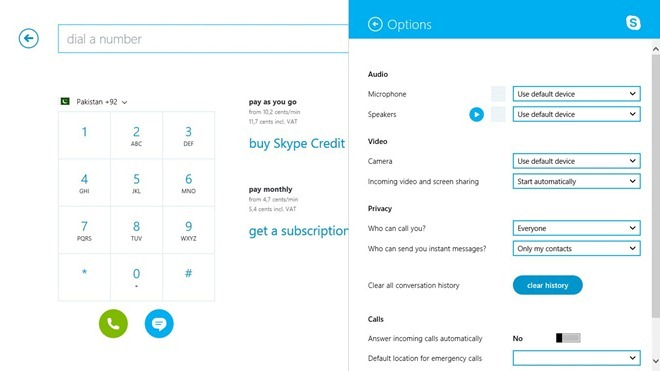 Skype_Dialer and Options