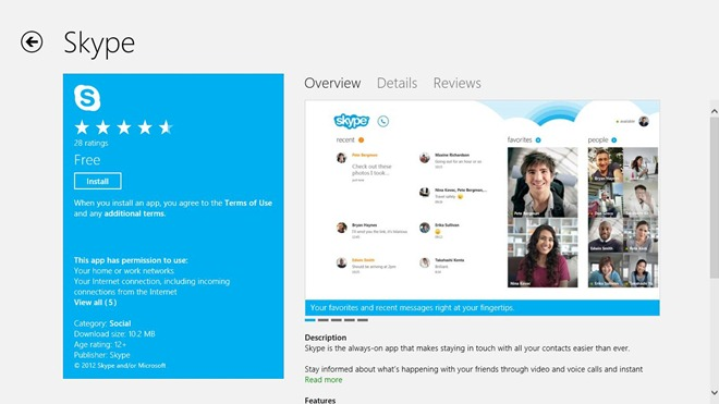 Skype_Windows Store