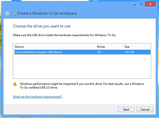 Windows to go 1