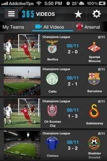 365Scores iOS Videos