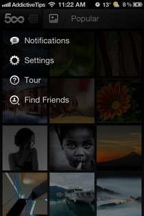 500px iPhone Options