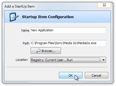 Add a StartUp Item