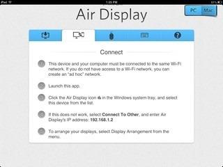 Air Display iPad Setup