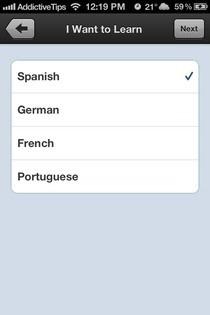 Duolingo iOS Language