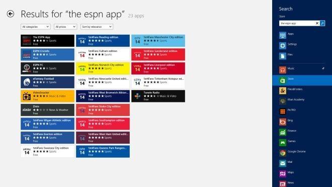 ESPN Store Search