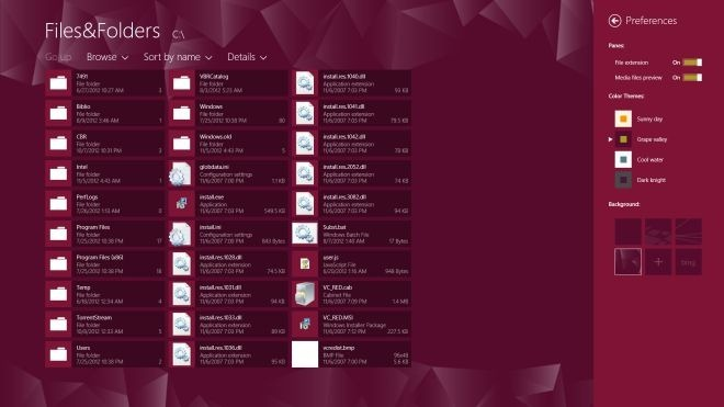 Files&Folders Preferences