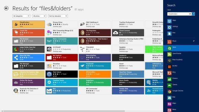 Files&Folders Store Search