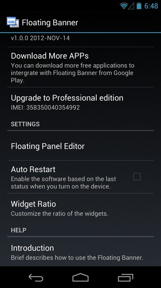 Floating-Banner-Android-Settings