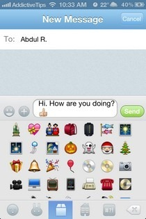 GO SMS iOS 5 Compose