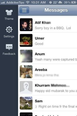 GO SMS iOS 5 Menu
