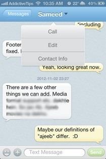 GO SMS iOS 5 Options
