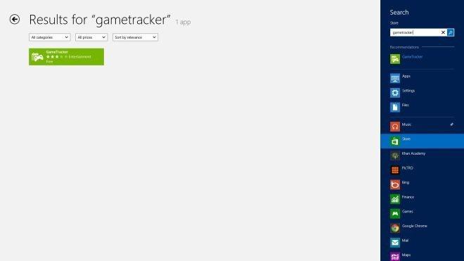 GameTracker Store Search