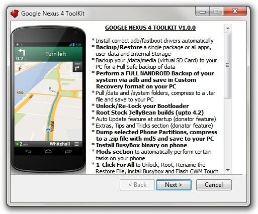 Google Nexus 4 ToolKit