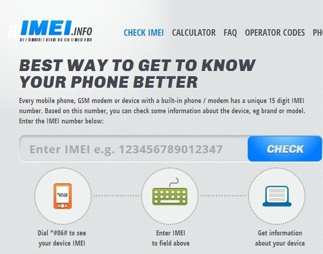 IMEI Info iOS Home
