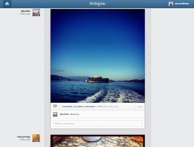 Instagram-web-interface-feed