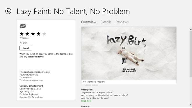 Lazy Paint_Windows Store