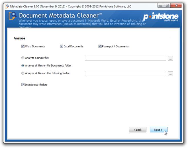 Metadata Cleaner Analyze