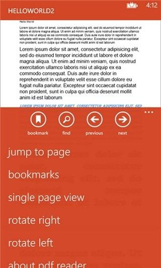 PDF Reader WP8