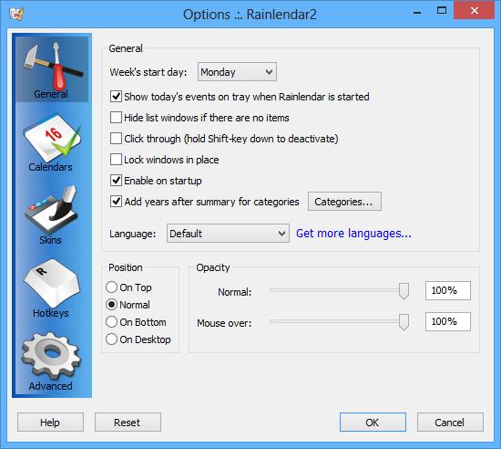 Rainlendar_Options