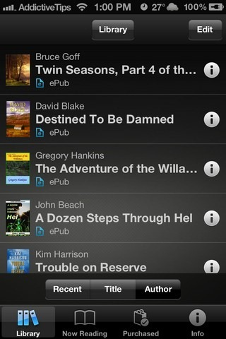 Reader Sony iOS Library