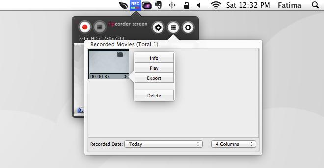 Ripcorder Screen view